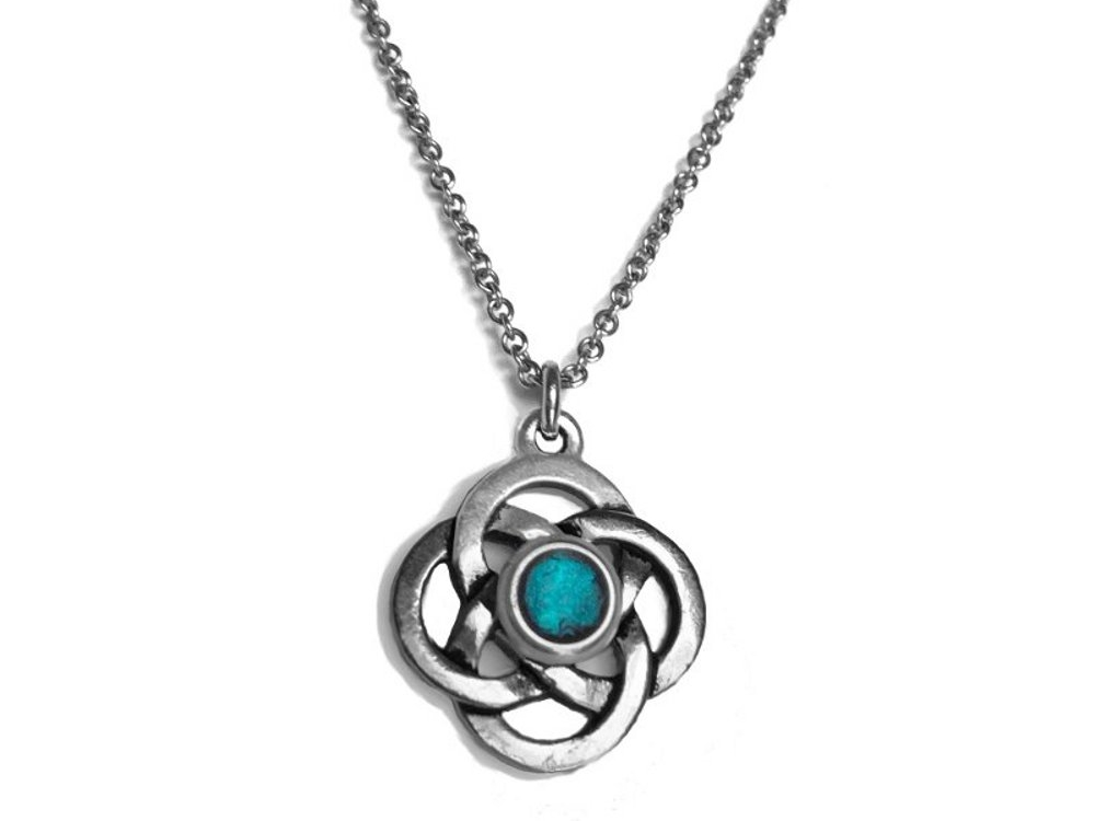 celtic knot with com trinity chain pendant shamrockgift