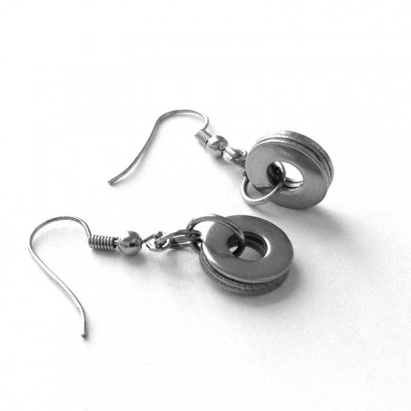 Layered Steel Washer Earrings