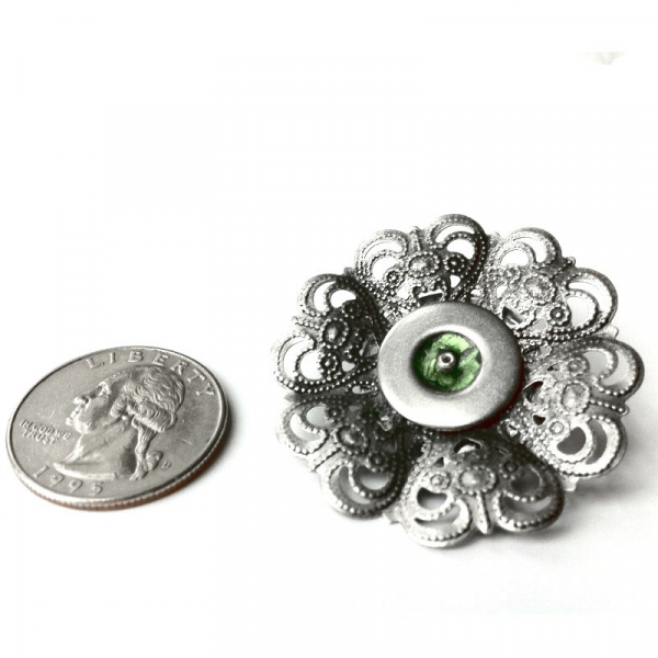 Gothis Silver Filigree Dorm Pin