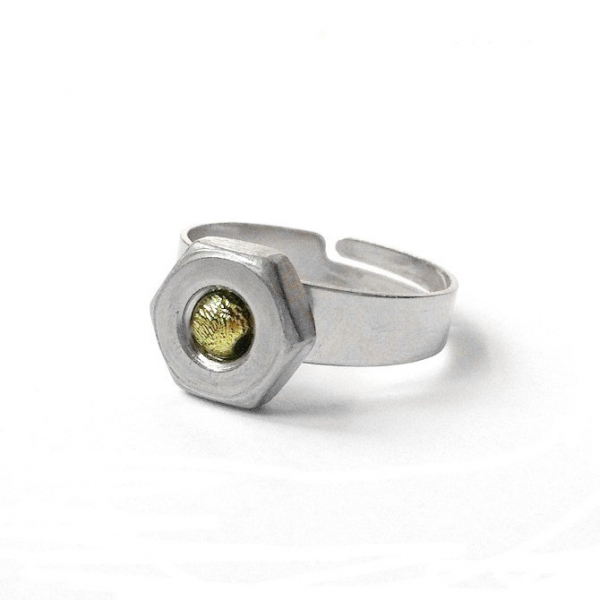 Adjustable Hex Nut Stainless Steel Ring Front