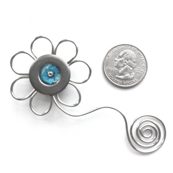Gift Basket Idea for Girl - Blue Flower Magnet