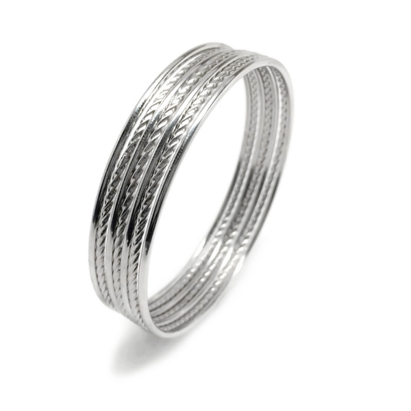 Hypoallergenic Cuff Bracelet for Her Silver Tone Edgy Traditional Style