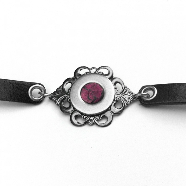 Gothic Victorian Bracelet Silver and Black