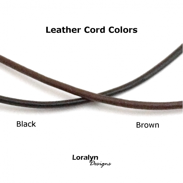 Brown and Black Leather Cord Options