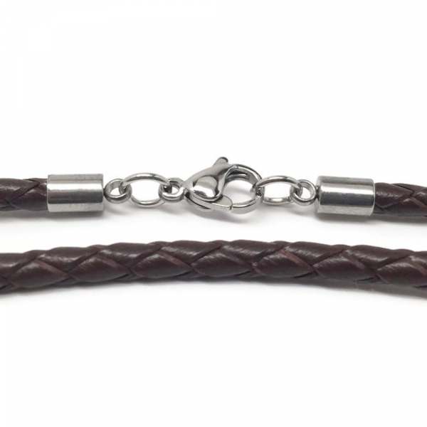 Long Espresso Brown Braiding Cord Detail Women