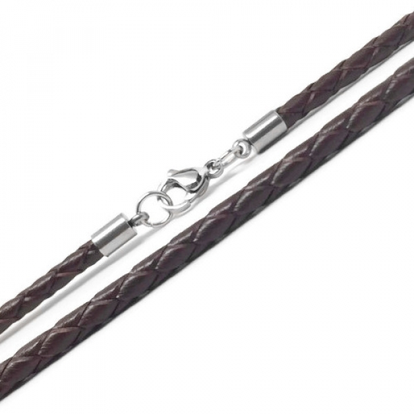 Unique Chocolate Brown Leather Jewelry Men