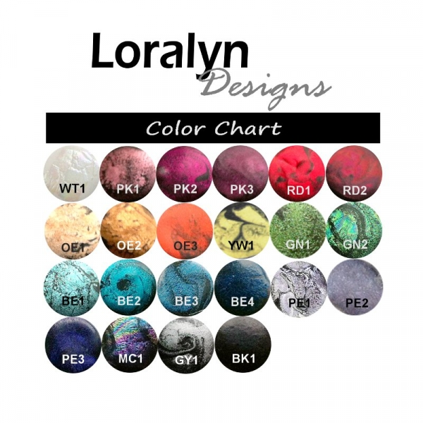 Custom Resin Jewelry Color Chart - Loralyn Designs