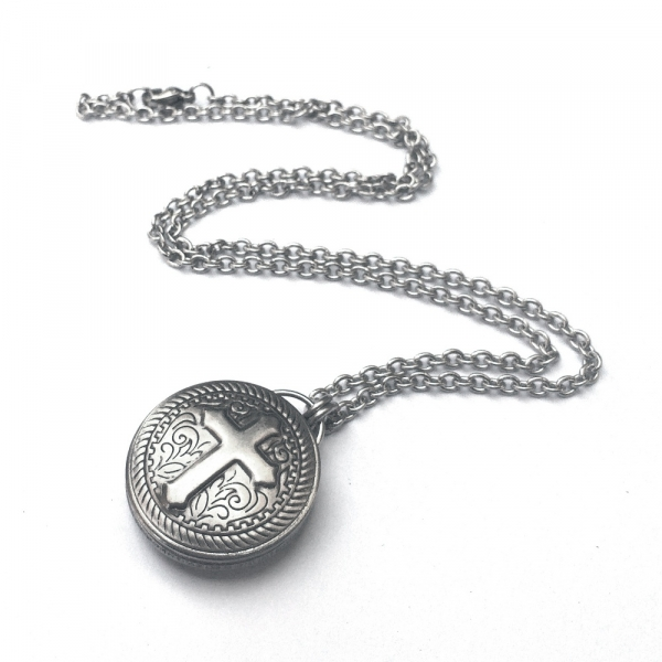 Cool Handmade Mens Cross Necklace Stainless Steel
