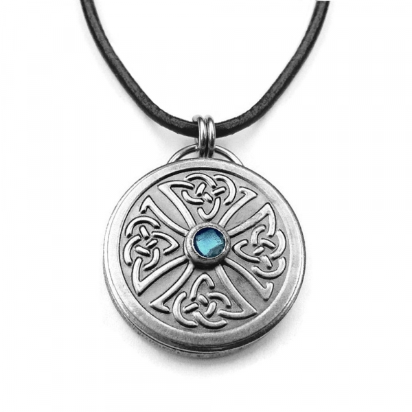 Mens Gothic Cross Necklace Stainless Steel Embossed