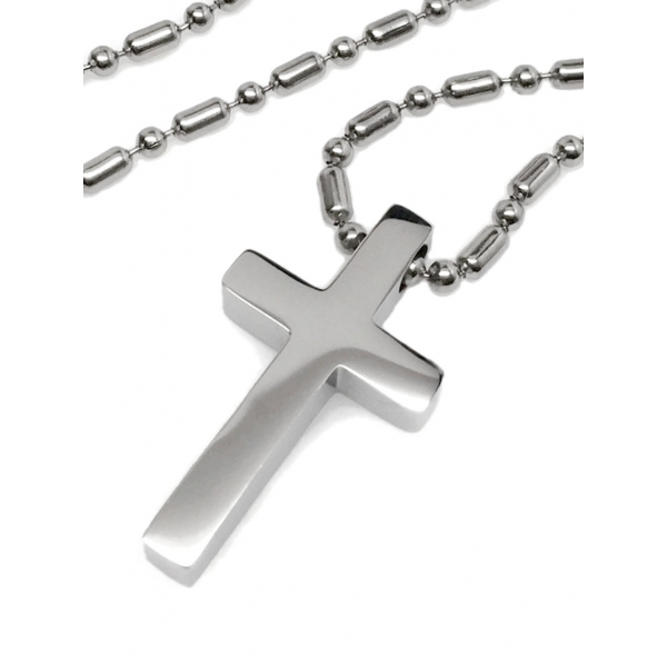 Silver Religious Cross Necklace Christian Bible Jesus