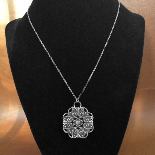 Medieval Artifact Style Pendant Tribal Jewelry
