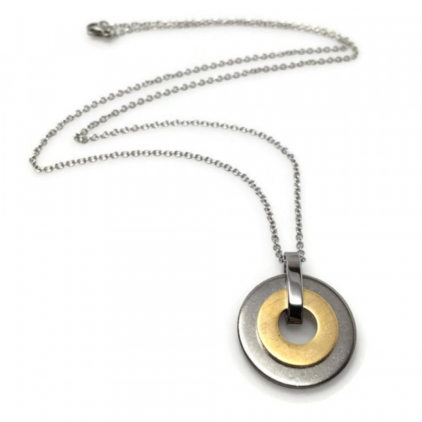 Industrial Round Necklace Geometric Jewellery