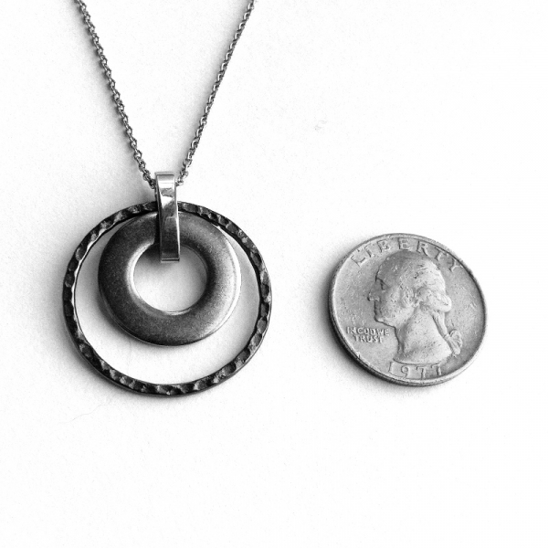 Silver Circle Pendant Stainless Steel