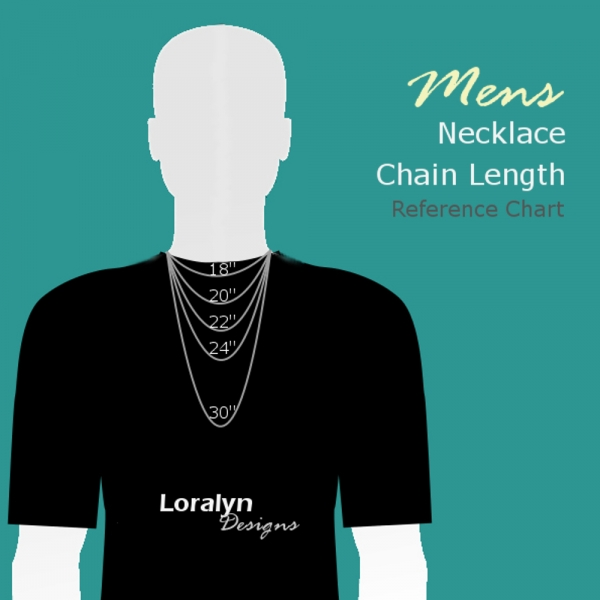Mens Necklace Length Guide Reference Chart Loralyn Designs