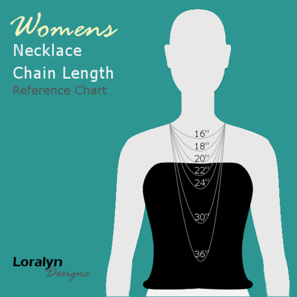Necklace chain length tool for women