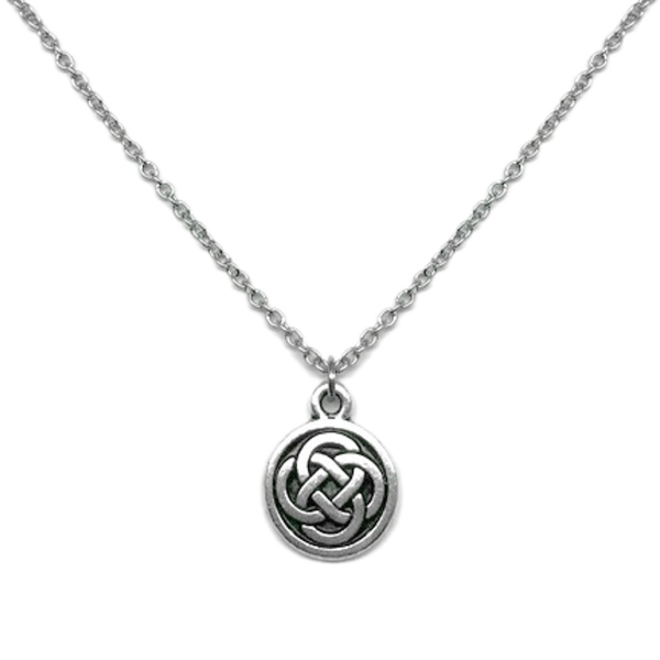 Celtic Jewelry Circle Pendant Love Committment Necklace Great for Layering