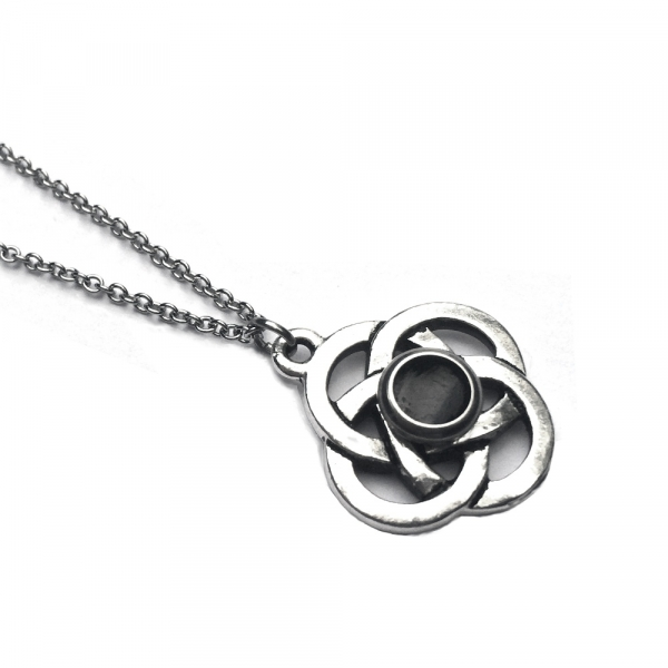 Circle Celtic Love Knot Pendant on Stainless Steel Chain