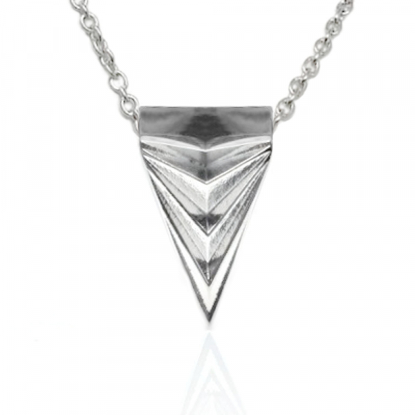 Unique Mens Arrowhead Necklace Stainless Steel Triangle Geometric