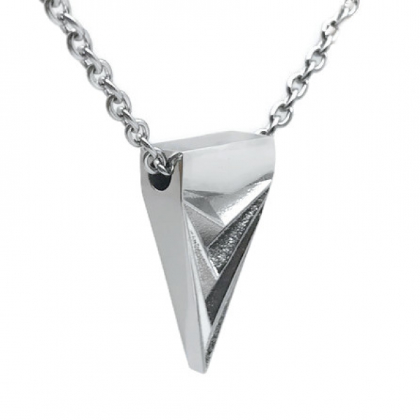 Silver tone 3D design jewelry for husband, brother, dad, son masculine style