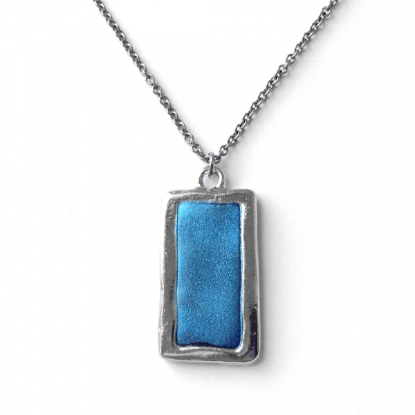 Cool Dodger Blue Necklace Stainless Steel Necklace Chain