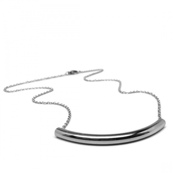Silver Minimalist Modern Pendant Necklace for Women