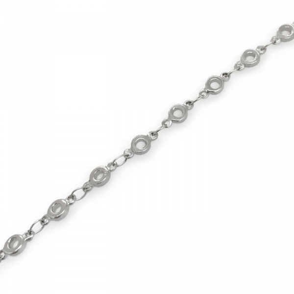Thin open circle donut shape link layering bracelet for her