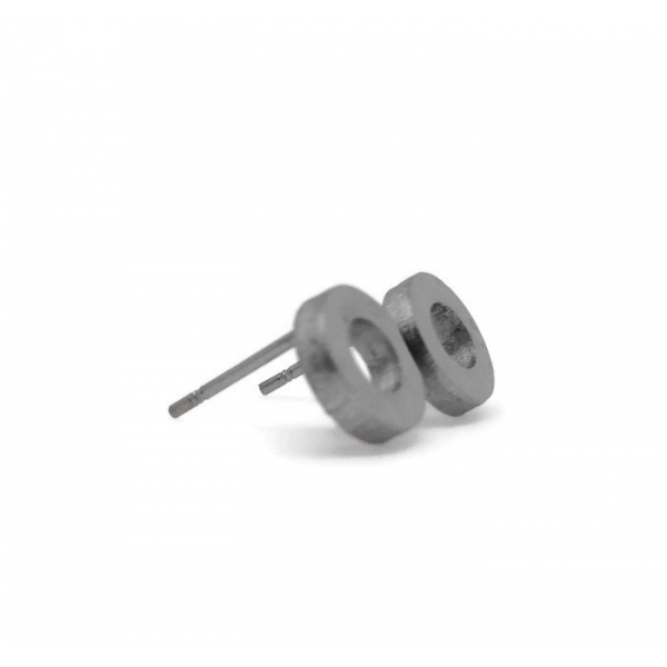 Hollow Circle Ear Surgical Steel Tiny Unique