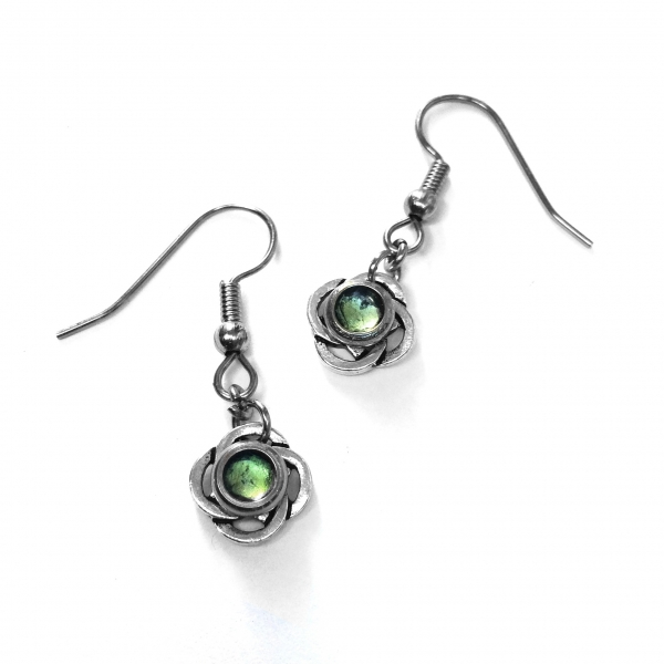 Handmade Irish Green Dangle Earrings