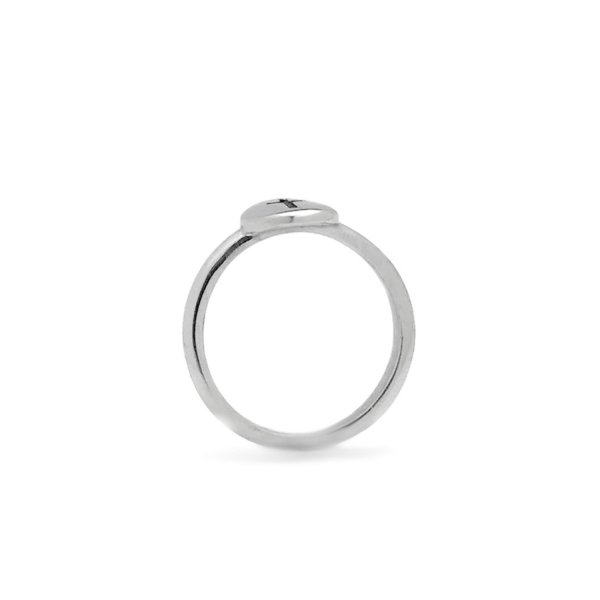 2mm silver band ring simple circle top design engraved