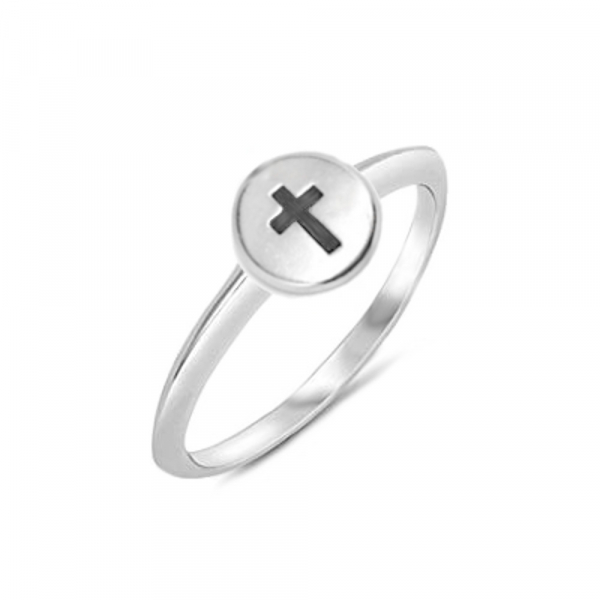 Plain Silver Catholic Cross Religious Jewelry for Girls