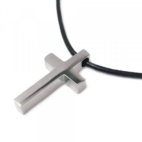 Modern Titanium Religious Jewelry for Guys Biker Necklace Faith Love Spiritual