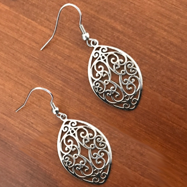 Unique Silver Bridal Jewelry Bridesmaid Mom Wedding Guest
