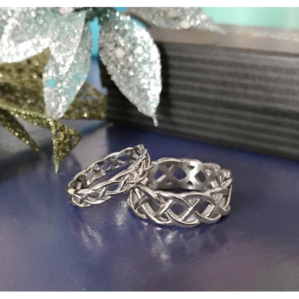 Unique Silver Couples Rings Hypoallergenic and will never tarnish!