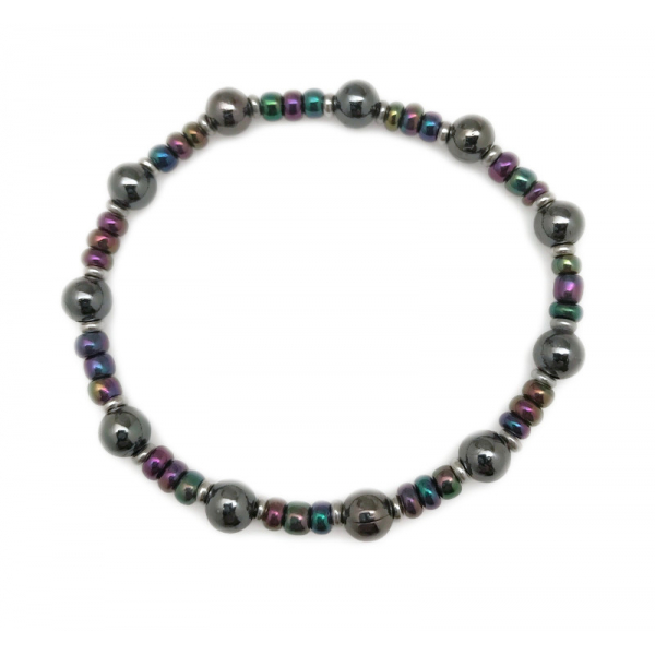 Colorful 6mm Stackable elastic Bead Bracelet for Men and Women