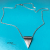 Textured Brushed Steel Simple Silver Triangle Necklace for Women