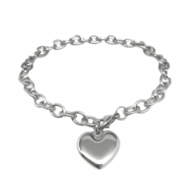 Silver Heart Charm Love Promise Committment Jewelry for Girlfiend Wife