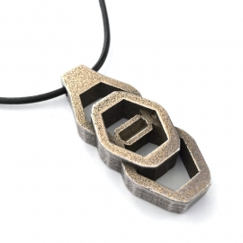 Mens Jewelry Hex Nut Industrial Necklace