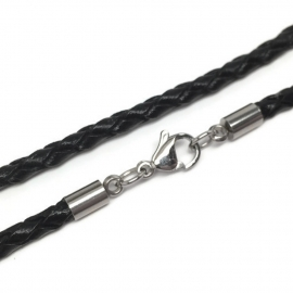 Quality Cowhide Leather Jewelry Necklace Chain for Men Women
