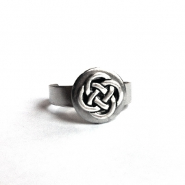 Adjustable Silver Celtic Knot Ring