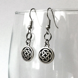 Silver Irish Celtic Earrings by Loralyn Designs