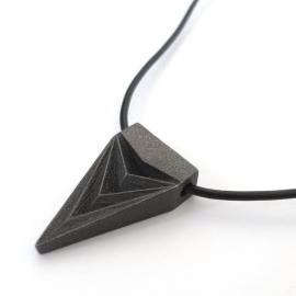 3d Designed and Printed Black Steel Pendant Necklace Shapeways