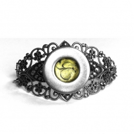 Yellow and Silver Filigree Bracelet