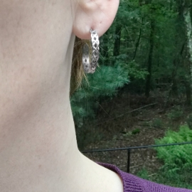 Lightweight Hoop Earrings for Sensitive Ears Irish Braid Design