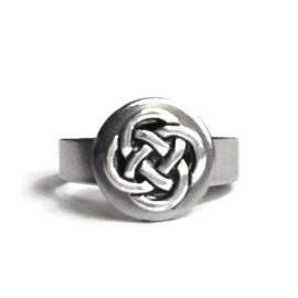 Womens Stainless Steel Irish Ring Celtic Adjustable Lightweight