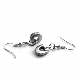 Casual Round Silver Dangle 316L Earrings For Women and Teen Girls
