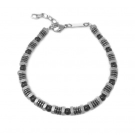 Silver and Black Edgy Rock n Roll Motorcycle Bike Chain Jewelry for Her