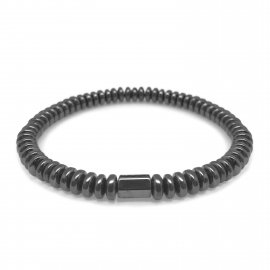 Thin Simple Layerable Mens Tough Guy Tennis Bracelet Beads