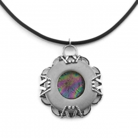 Iridescent Black Unique Stainless Steel Pendant Necklace