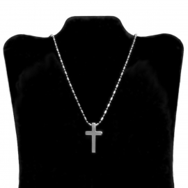 Rosary Military Chain Dog Tag for Cool Guys Him Unisex