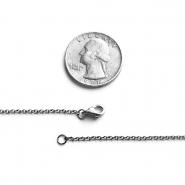 How wise is 1mm reference picture lobster clasp silver